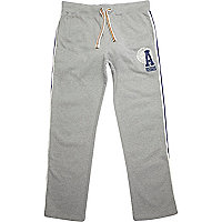 Grey American Freshman logo print sweat pants