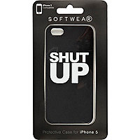 Black shut up iPhone 5 case