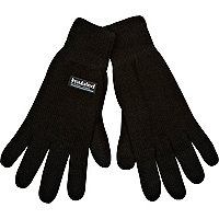 Black thermal insulated gloves