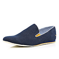 Navy denim Dispair contrast trim shoes