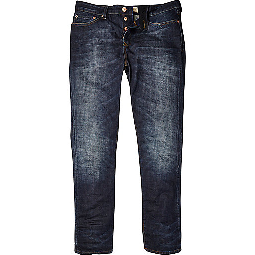 Dark wash coated Dylan slim jeans