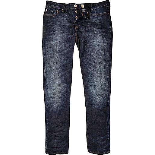 Dark wash coated Dylan slim jeans