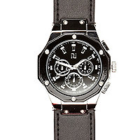 Black hexagon watch