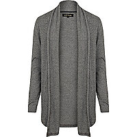 Grey flecked waterfall cardigan