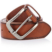 Light brown casual belt