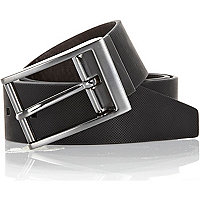 Black reversible textured belt