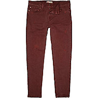 Berry red Dylan slim jeans