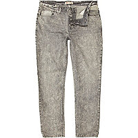 Grey acid wash Dylan slim jeans