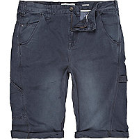 Blue twisted seam shorts