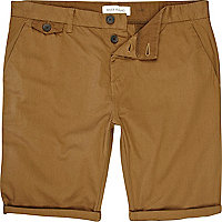 Brown roll up shorts