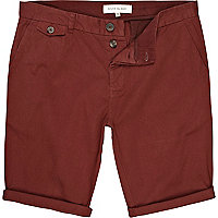 Red roll up shorts