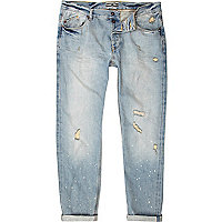 Light wash ripped Holloway Road jeans