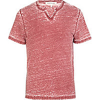 Red marl burnout t-shirt