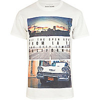 White California photograph print t-shirt