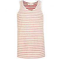 Red and white stripe inside out vest