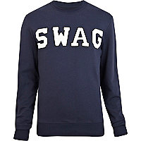 Navy blue swag sweatshirt