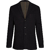 Black denim blazer