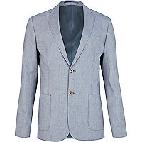 Blue neppy smart blazer
