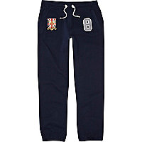Navy varsity badge joggers
