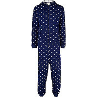 Navy Chelsea Peers star print all-in-one