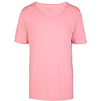 Pink low scoop t-shirt