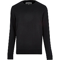Black classic long sleeve sweatshirt