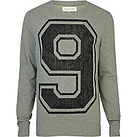 Green 9 number print sweatshirt