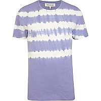 Purple tie dye stripe short sleeve t-shirt