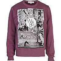 Red Williamsburg Boxing Club print sweatshirt