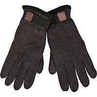 Grey Thinsulate knitted gloves