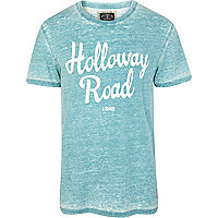 Green burnout Holloway Road print t-shirt