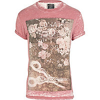 Red Holloway Road burnout print t-shirt