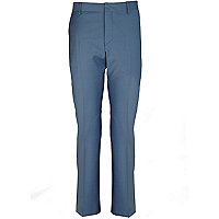 Blue slim suit trousers