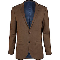 Light brown slim suit jacket