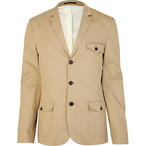 Light brown patch pocket blazer
