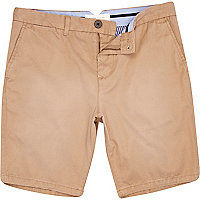 Light brown smart shorts
