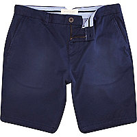 Blue washed smart shorts