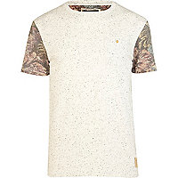 Ecru Holloway Road floral sleeve t-shirt