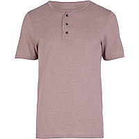 Light purple grandad t-shirt