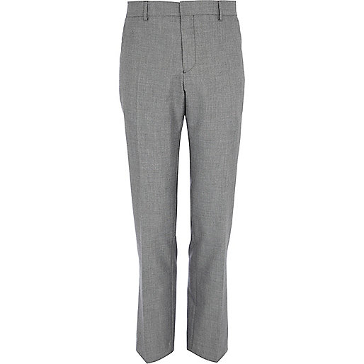 Grey slim smart trousers