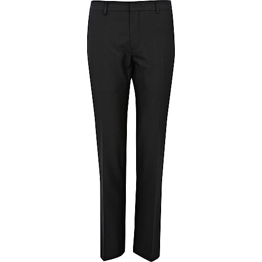 Black slim smart trousers
