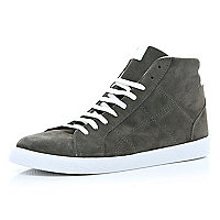 Grey suede high tops