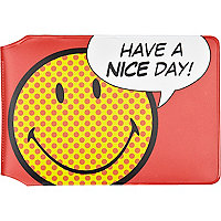 Red have a nice day card holder