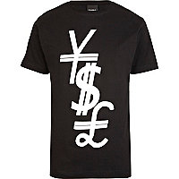 Black To The Black money print t-shirt