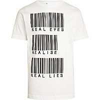White To The Black barcode print t-shirt