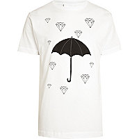 White To The Black umbrella print t-shirt