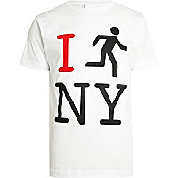 White To The Black I run NY t-shirt