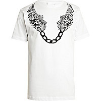 White To The Black wing print t-shirt