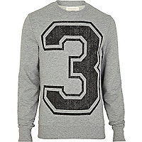 Grey 3 print sweatshirt