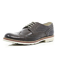 Brown Base brogue bowling shoes